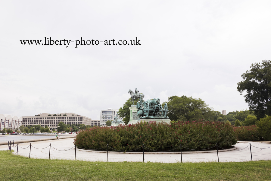 Bronze Artillery Group and General Grant statue at the Ulysses Grant Memorial, Capitol Hill, Washington DC
