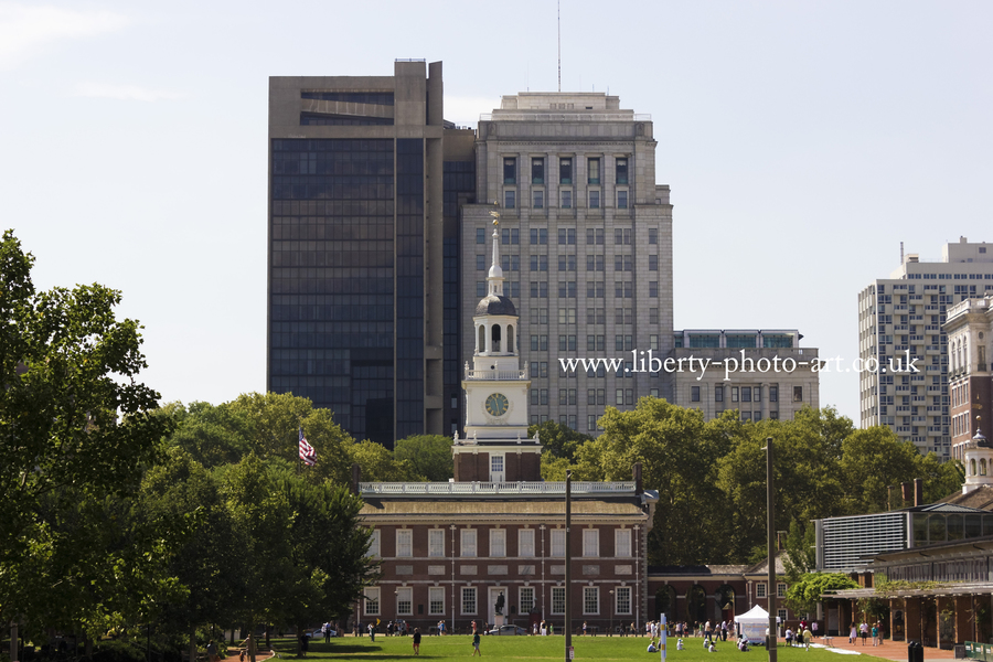 View of the World Heritage Site Independence Hall, Independence National Historical Park, Old City, Philadelphia
