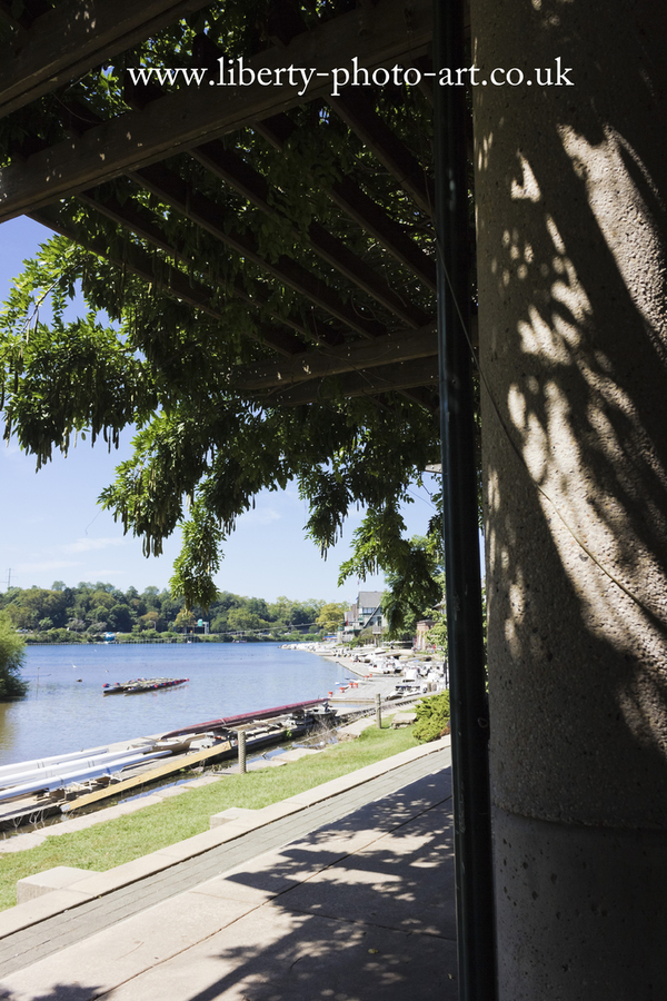 Beautiful scenic summer view of Boathouse Row along the Schyulkill River, to the west of the city