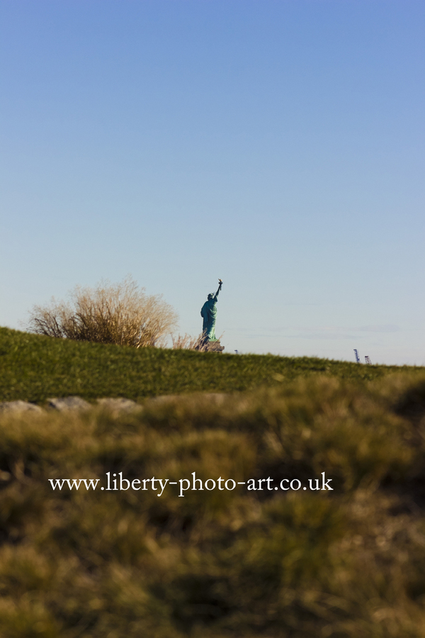 View of Lady Liberty (Statue of Liberty) in the distance from Liberty National Golf Club, Jersey City, New Jersey
